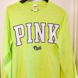 Victoria's Secret Pink LS Campus Shirt Large